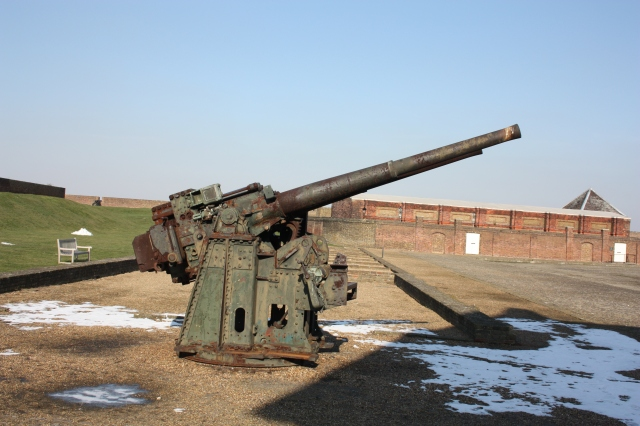 Modern Gun at Tilbury Fort
