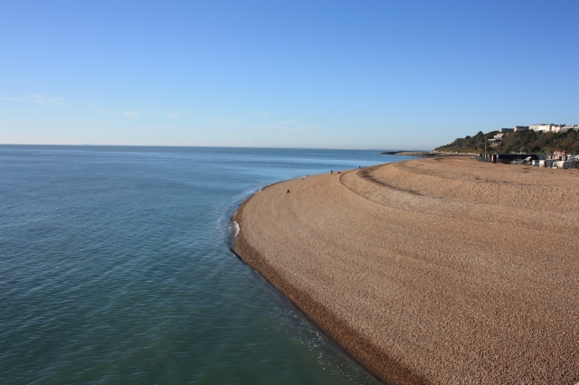 Shingle Bank looking West from Folkestone Harbour Pier