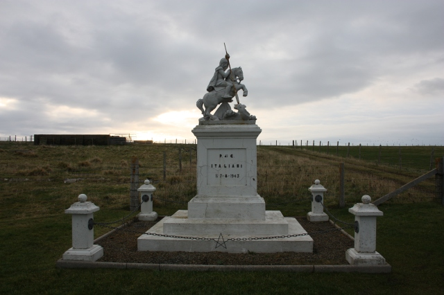 St George Statue at the Italian Chapel