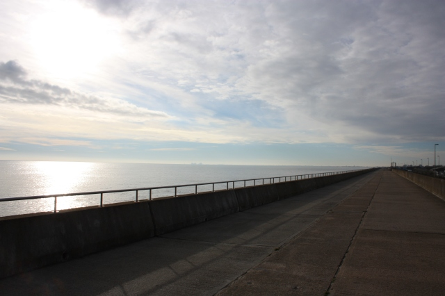 The Sea Wall, stretching away west