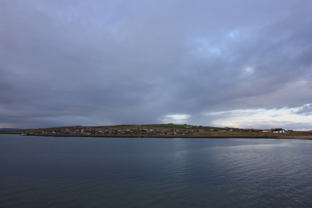 The view north to Burray from South Ronaldsay