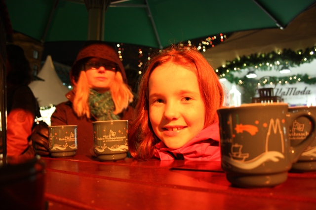 Gluhwein stand at the Harbour Market