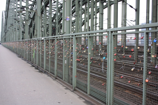 Love Padlocks on the North Side of the Hohenzollernbrücke