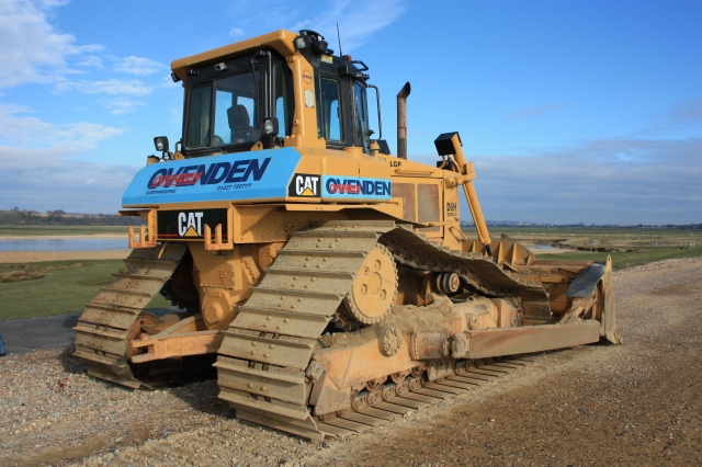Bulldozer on the Pett Sea Wall
