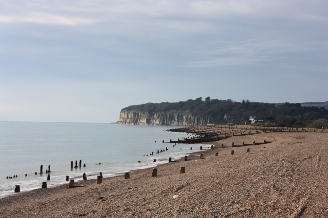 Winchelsea Beach and the Cliffs of Fairlight Cove