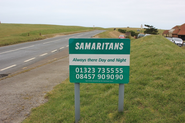 Beachy Head Samaritans Sign