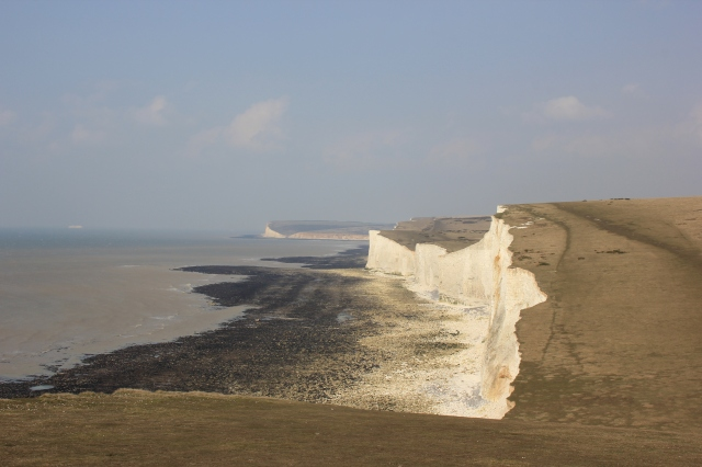 Looking West along the Seven Sisters
