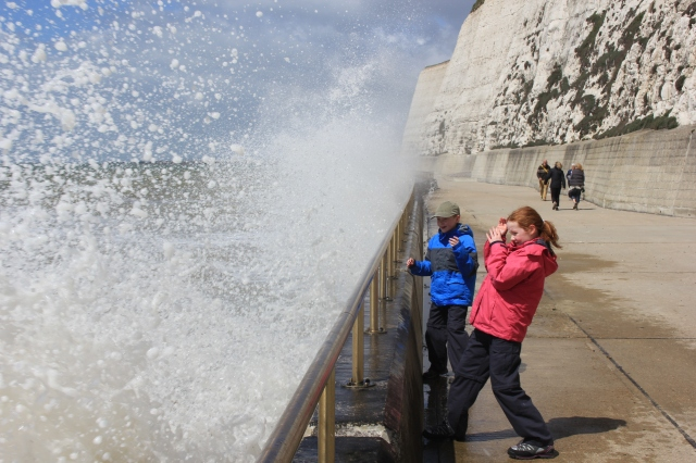 Sea Spray at Undercliff Walk