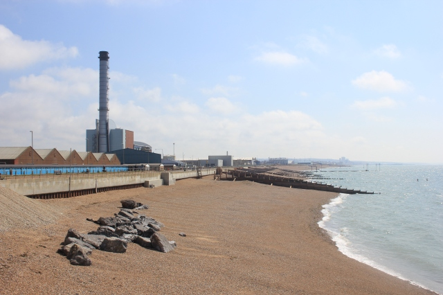 Looking back to Shoreham Power Station