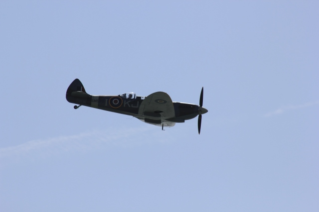 Spitfire over Brighton Marina