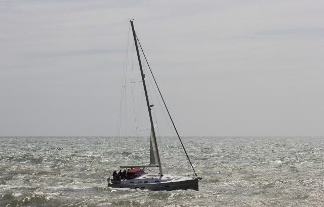 Yacht Approaching Brighton Marina
