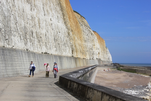 Peacehaven Promenade under the Cliffs