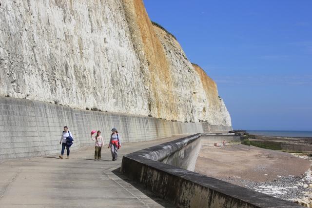 Peacehaven Promenade under the Cliffs