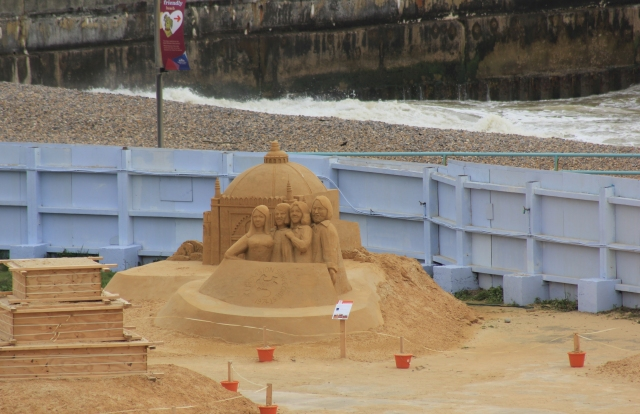 Sand Sculptures just beyond Brighton Marina