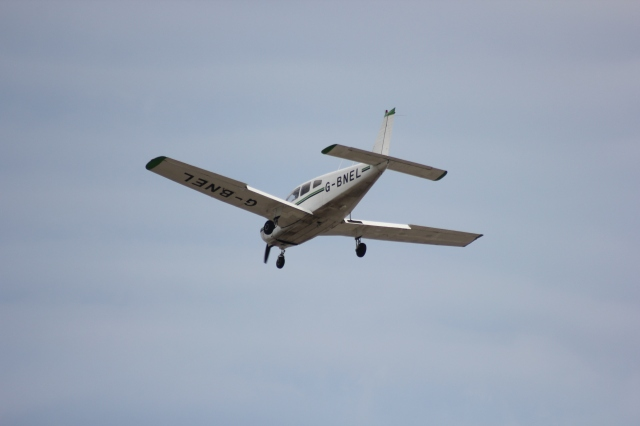 Coming in to Land at Shoreham Airport