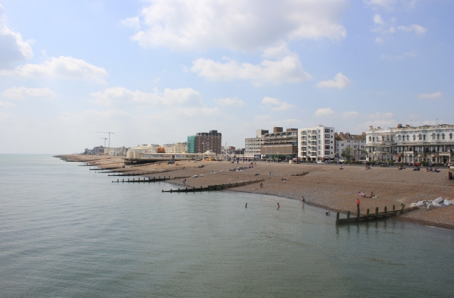 Looking West from Worthing Pier