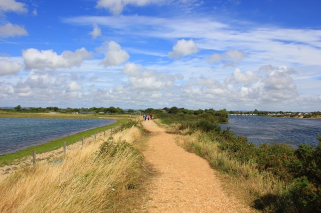 Embankment between Pagham Lagoon and Pagham Harbour