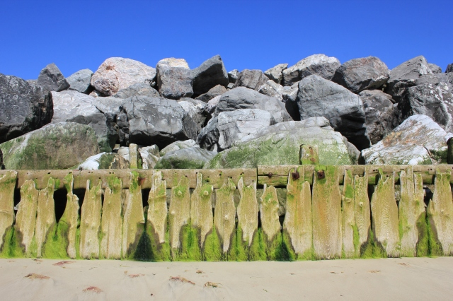Timber Sea Defences at Elmer
