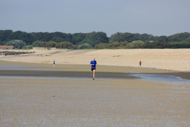 Jogger on Littlehampton Beach
