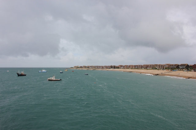 The View From Selsey Lifeboat Station to Selsey Bill