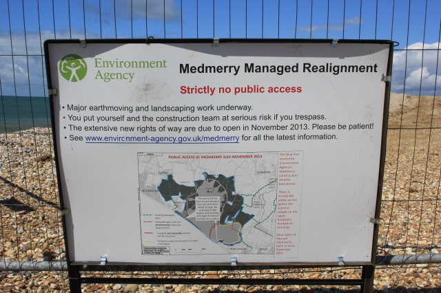 Medmerry Beach Realignment Sign