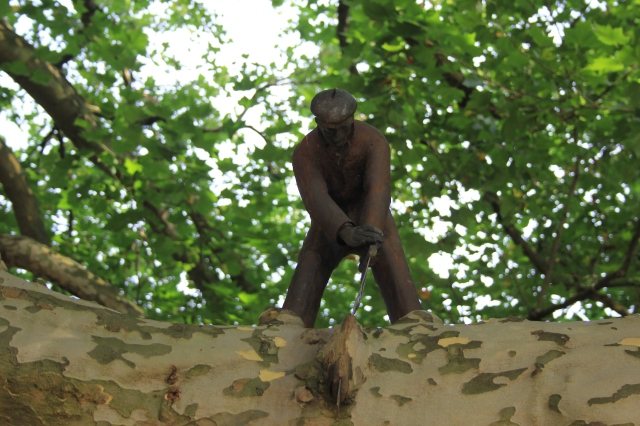 The Woodcutter Sculpture