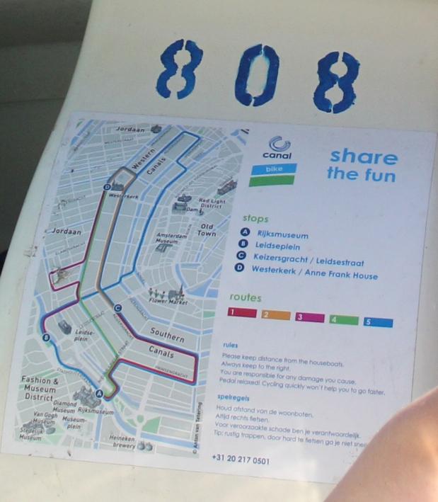 Canal Bike Map