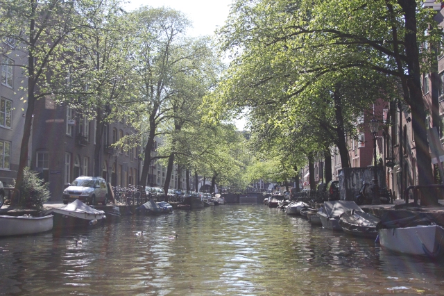 A Beautiful Amsterdam Canal photoshopped
