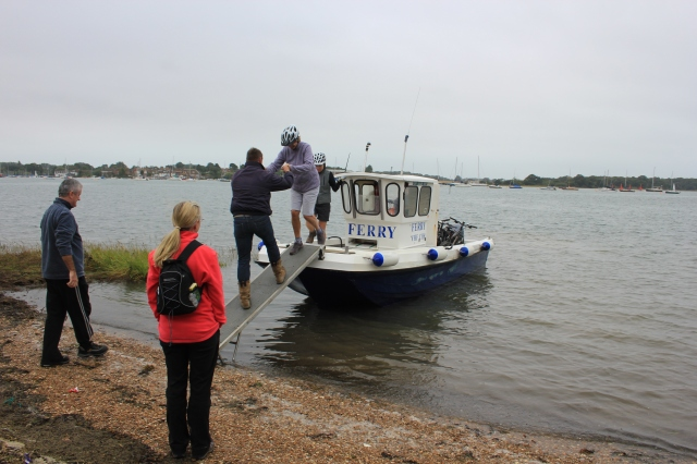 Disembarking from the West Itchenor Ferry