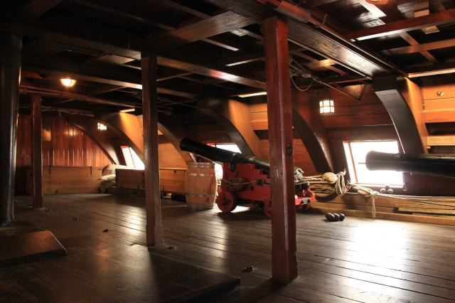 Gun Deck of The Amsterdam