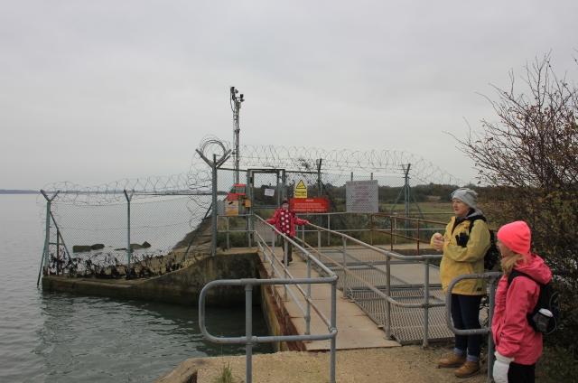 Entrance to Thorney Island Army Base