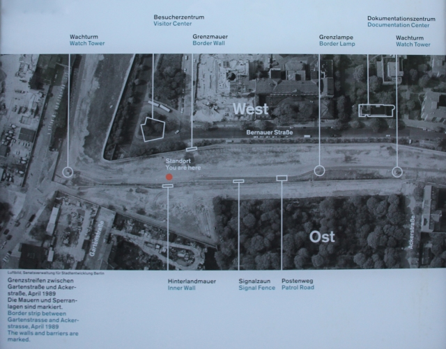 Plan View of Berlin Wall