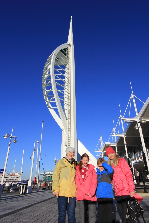 Bright Sun at the Spinnaker Tower