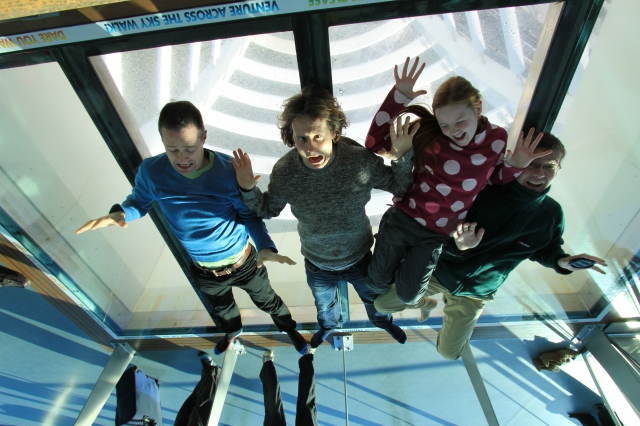 The Spinnaker Tower Glass Floor inverted