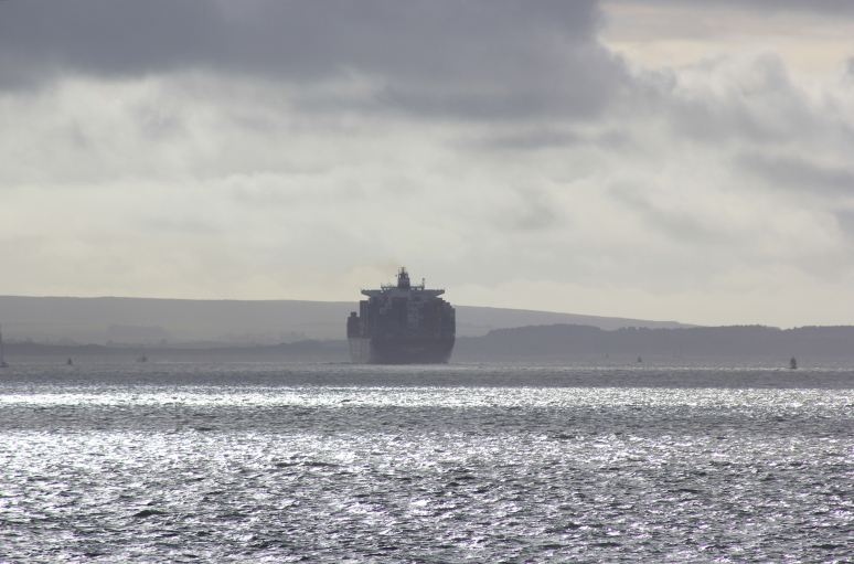 Container Ship on Southampton Water