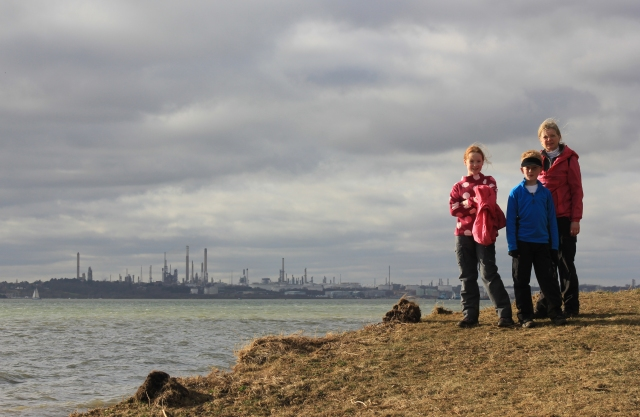 At Titchfield with Fawley Industry in the Background