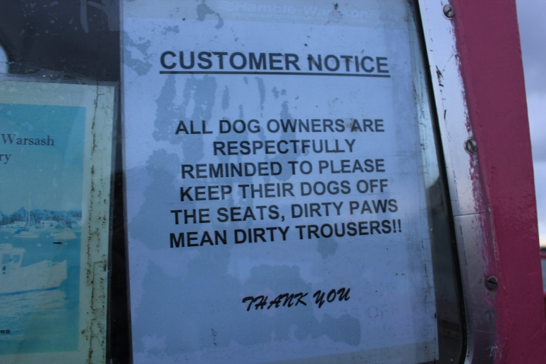 Sign on Hamble Ferry