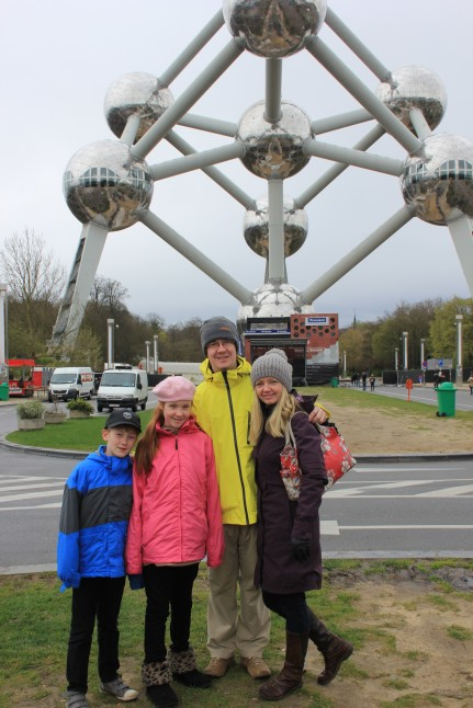 Outside The Atomium