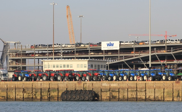 Tractors at Southampton Docks