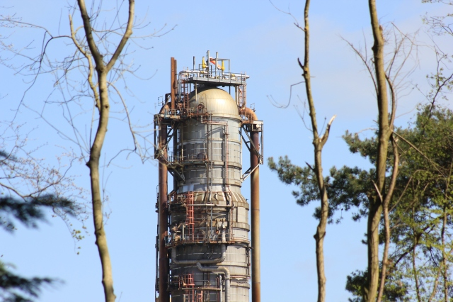 Fawley Refinery Through the Trees