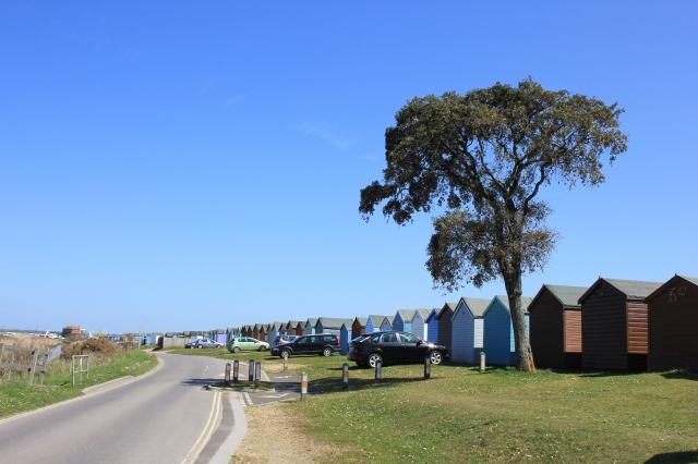 Beach Huts on Calshot Spit