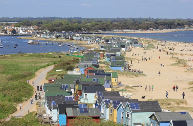 Looking Back Along Mudeford Spit