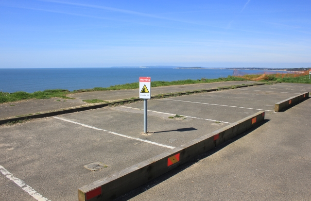 Dangerous Car Park at Barton on Sea