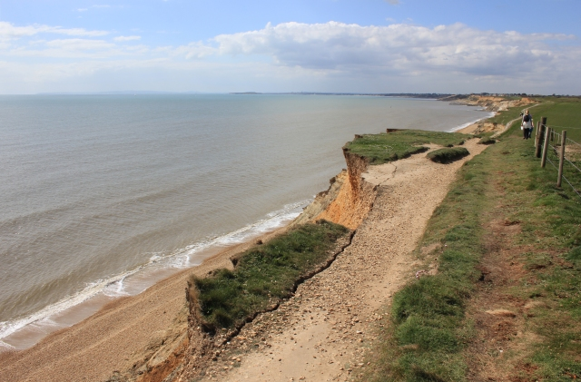 Eroded Footpath to Barton on Sea