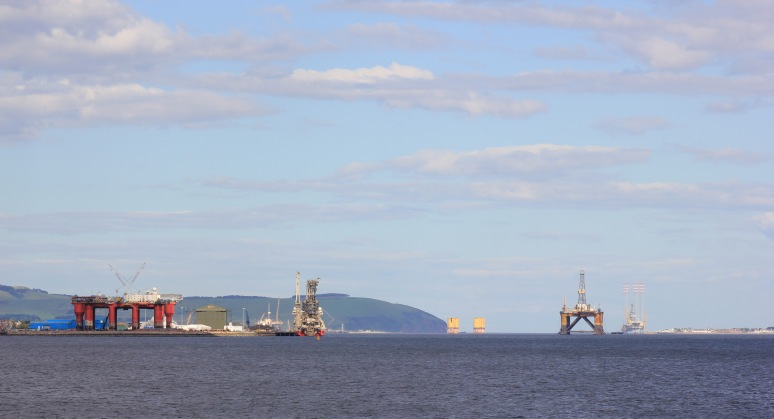 Oil Rigs on Cromarty Firth