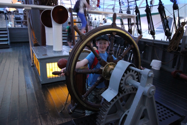 Ben at the Helm