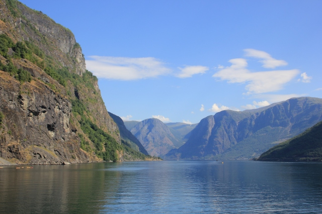Heading out of Flam along Aurlandsfjord