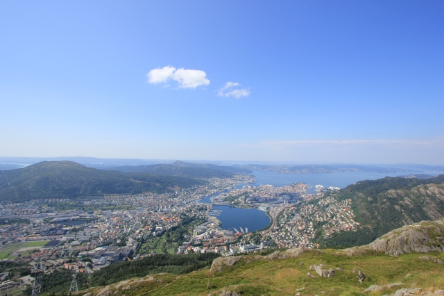 View from Mount Ulriken Viewing Platform
