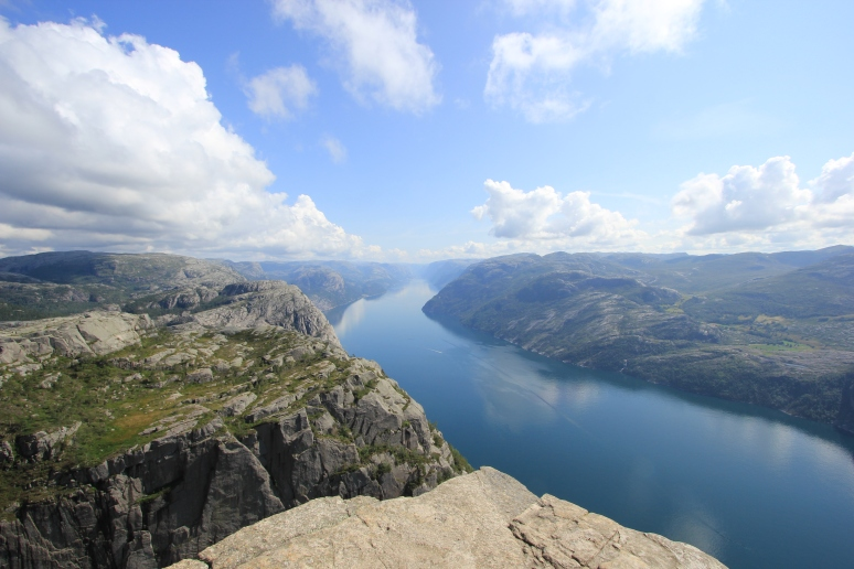 View down Lysefjord from Pulpit Rock