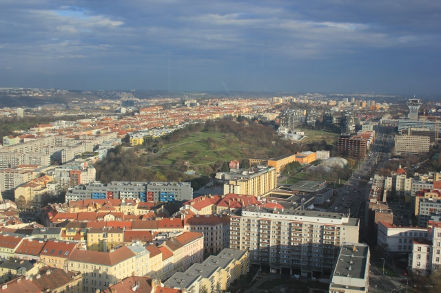View from Žižkov Tower